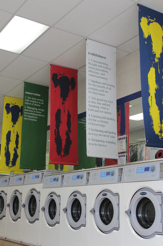 Create Change Artist in Residence at The Laundromat Project: Yoga Body Prints & Principles