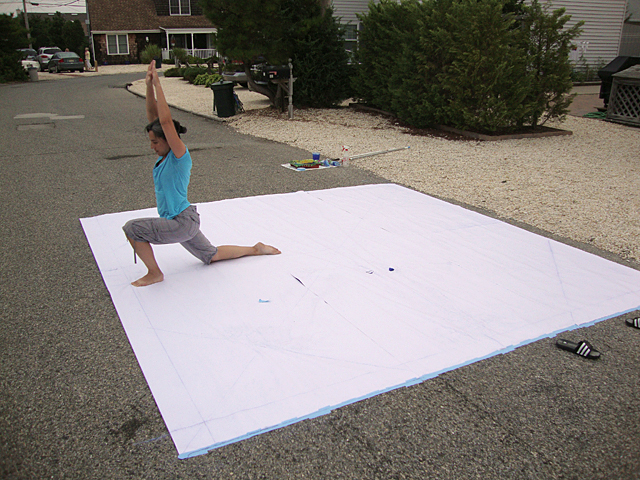 Yoga Body Print Mandala: Process Detail